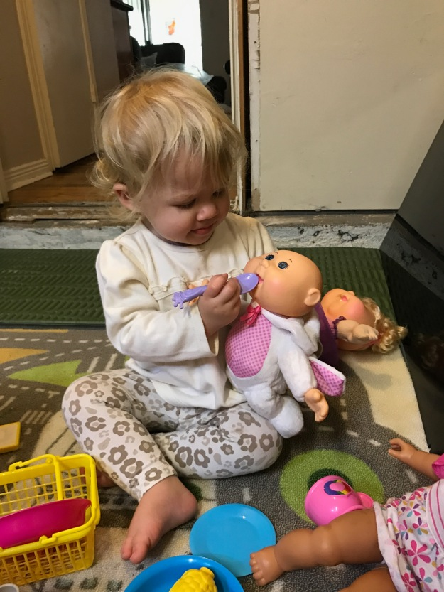 Toddler feeding doll